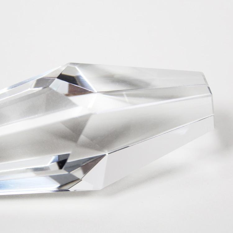 Pendaglio prisma assimmetrico 115 mm in cristallo di Boemia originale