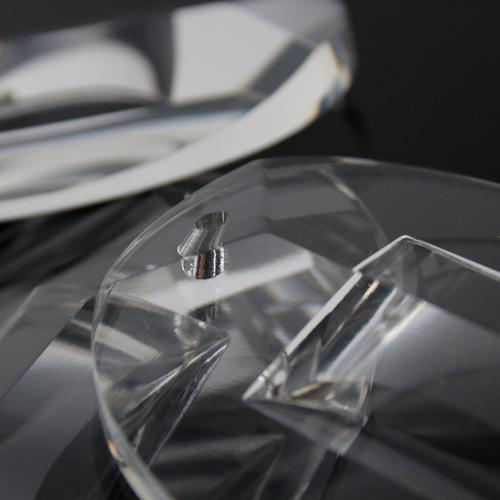 Pendente in vetro puro di Boemia h80 mm tondo. Per restauro lampadari vintage