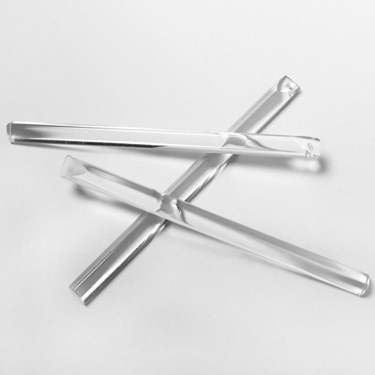 Pendente listello 160 mm cristallo Boemia, bacchetta cristallo molato a mano
