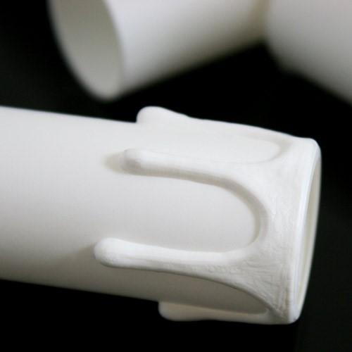Guscio copri porta-lampada E14 guscio bianco finta candela plastica h 65 mm