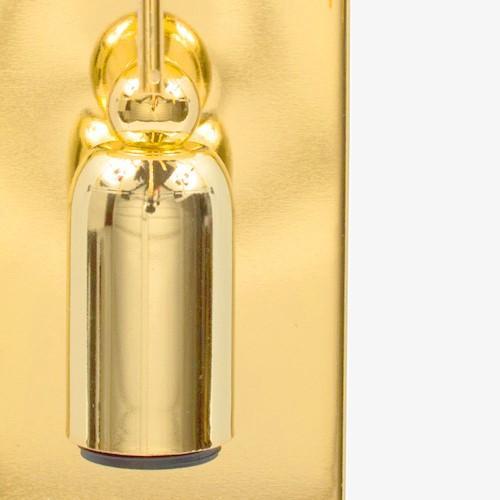 Montatura applique a pioggia, 1 luce finitura dorata con 11 zampilli forati.
