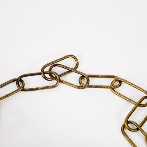 Montatura sospensione lampada E27 bronzo pennellato oro anticato corona con catena e cavo elettrico oro