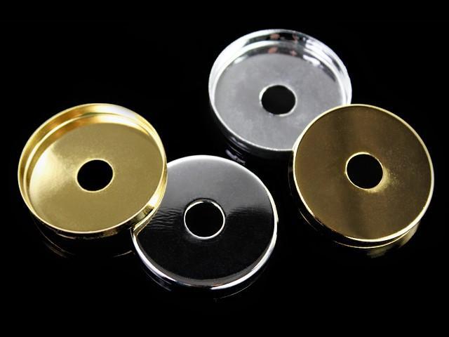 Centratubo dorato a dischetto Ø 40 mm con foro Ø 10 mm