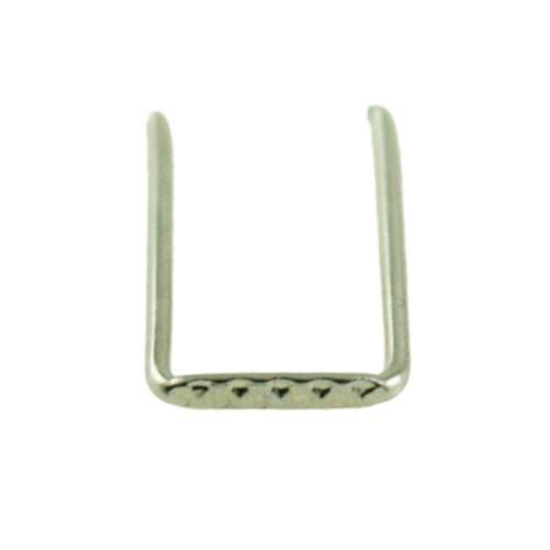 Clip 6 mm passo ridotto finitura nickel per catene di cristalli fitte.