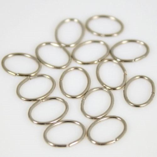 Anello ovale schiacciato 8 mm nickelato