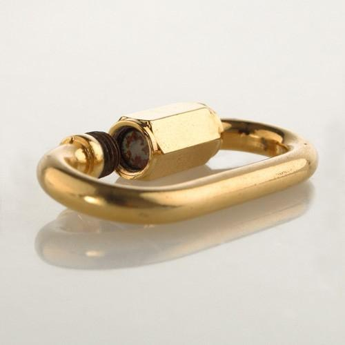 Moschettone oro diametro 5 mm