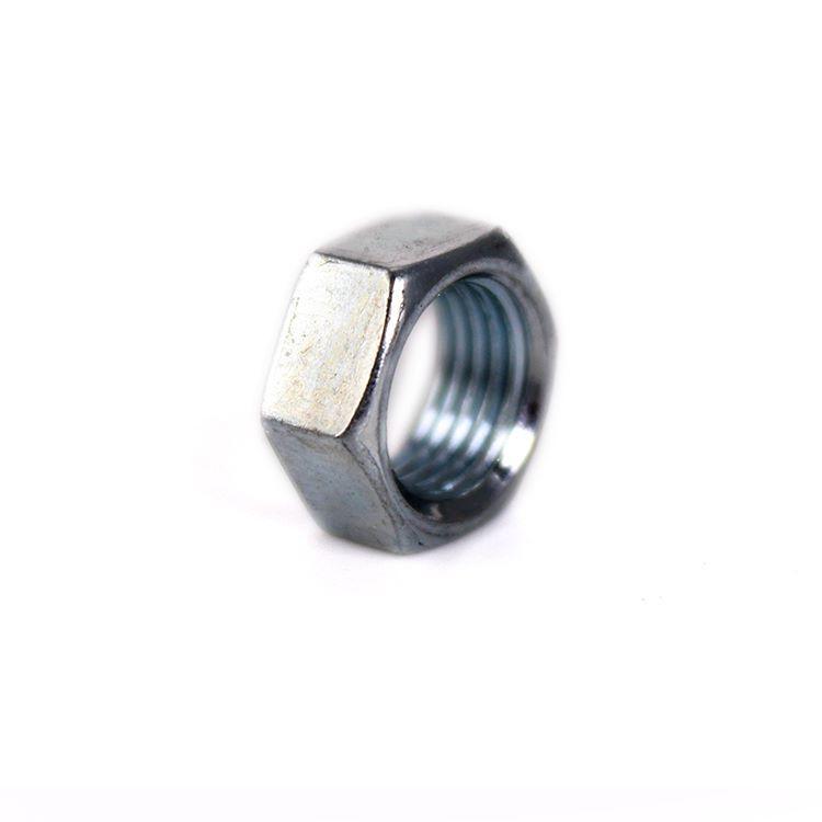 Dado esagonale Fe 13x6 - foro M10x1 zincato
