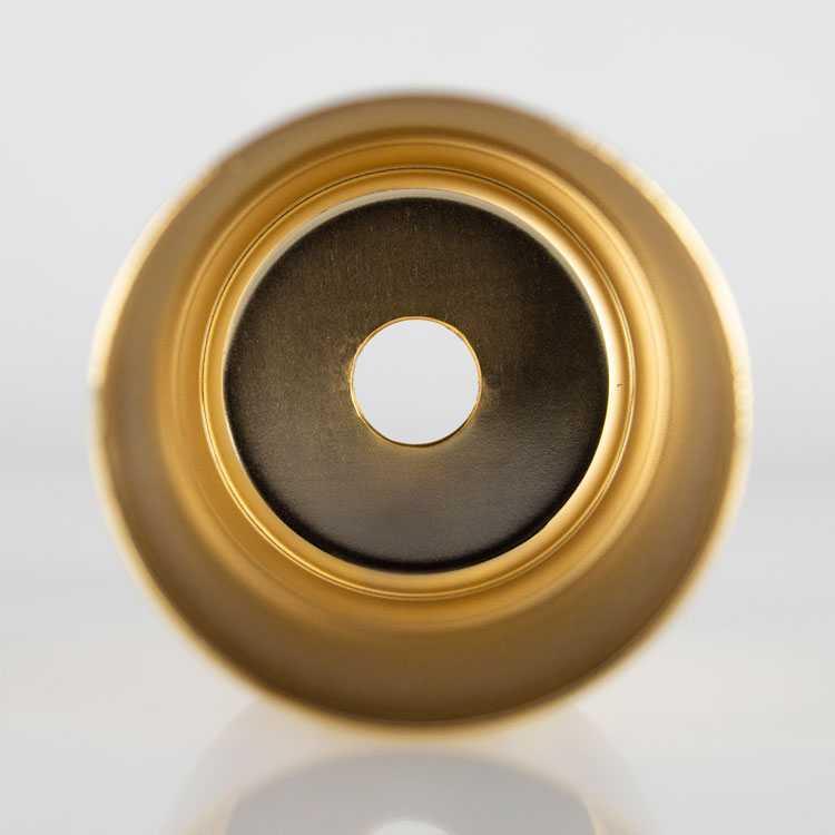 Bicchierino metallico oro E14 Ø30 mm foro 10 mm
