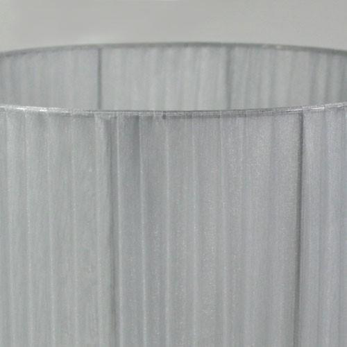 Paralume 30x20 cm cilindro rivestito in velo siena color grigio chiaro. Attacco E27