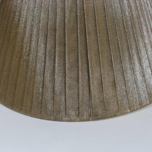 Paralume Ø 20 cm Ø 10 cm h 13 cm,tronco cono tessuto organza color liquirizia. Attacco E27
