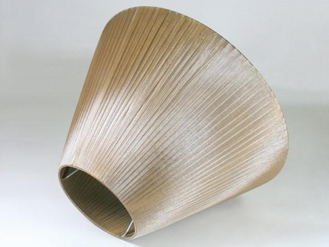 Paralume 26x16x40 cm tronco cono, tessuto organza velo Siena color liquirizia. Attacco E27