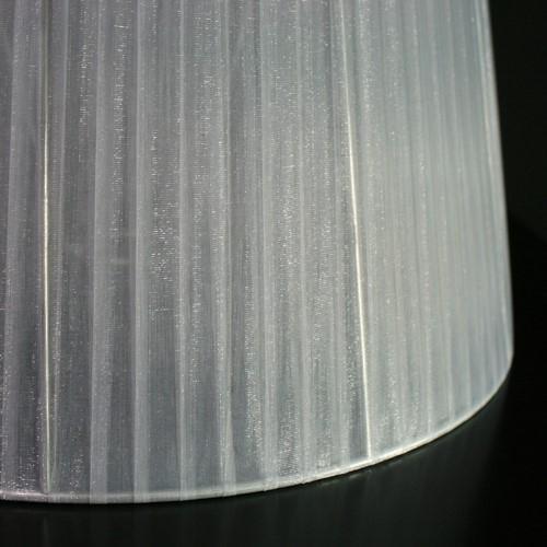 Paralume tronco di cono, Ø40 cm, h 40 cm, foro superiore 27 cm, velo Siena grigio. Attacco E27