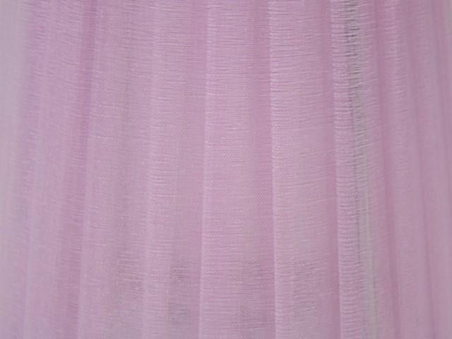 Paralume Ø12x8x16 cm rivestito da velo siena viola lilla. Montatura argento, attacco E14