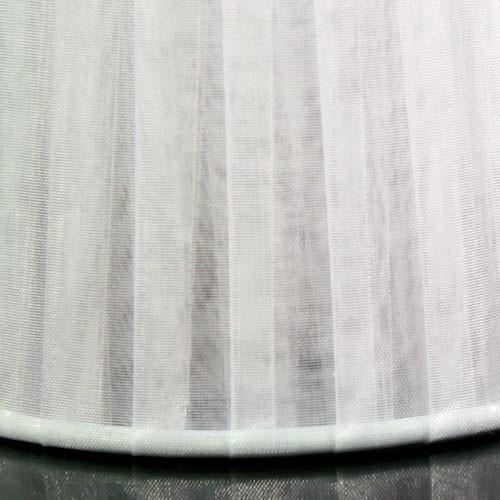 Paralume 14x10x12 cm tronco conico rivestito da organza bianca. Montatura bianca attacco a molla.