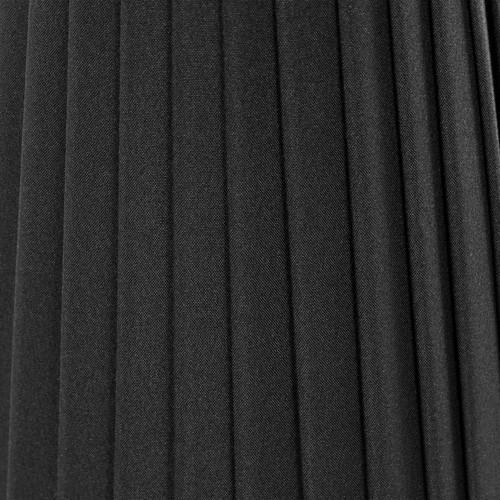 Paralume Ø15 Ø9 h21 cm tronco conico rivestito da ponge nero. Attacco E14 montatura nera.