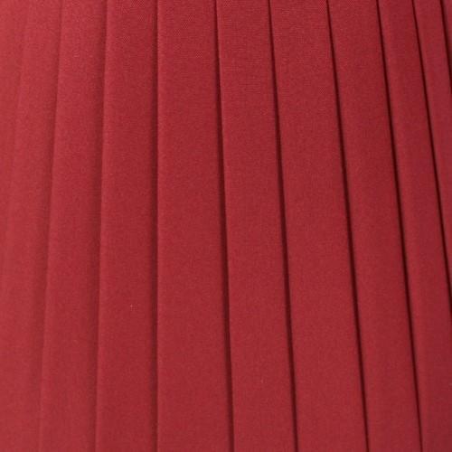 Paralume 14x10x12 cm tronco conico rivestito da ponge' rosso bordeaux. Montatura argento attacco a molla.