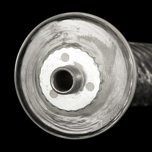 Braccio 24 cm ricambio lampadario murano in su cristallo trasparente