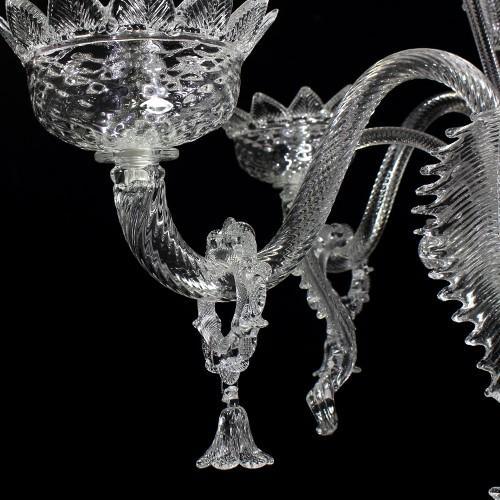 Anello in vetro di murano con campanella tutto cristallo