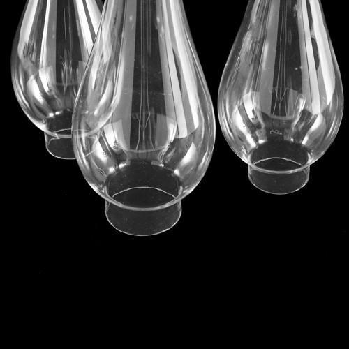 Parafiamma 21 cm in vetro trasparente liscio