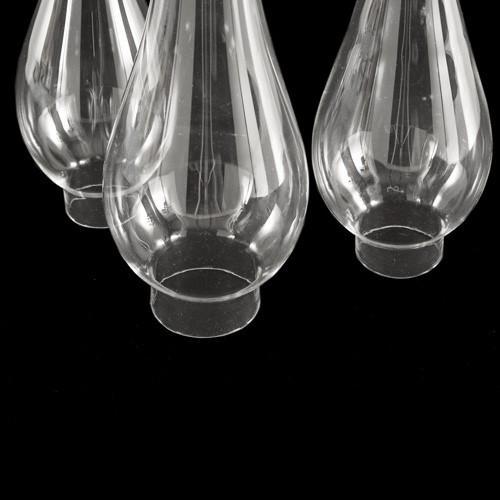 Parafiamma 23 cm in vetro trasparente liscio