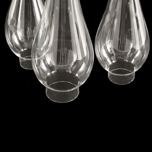 Parafiamma 25 cm in vetro trasparente liscio