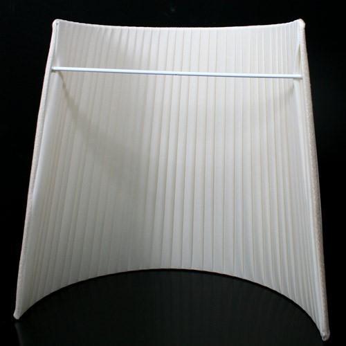 Paralume tronco cono per applique a muro, tessuto nastrato pongè avorio.