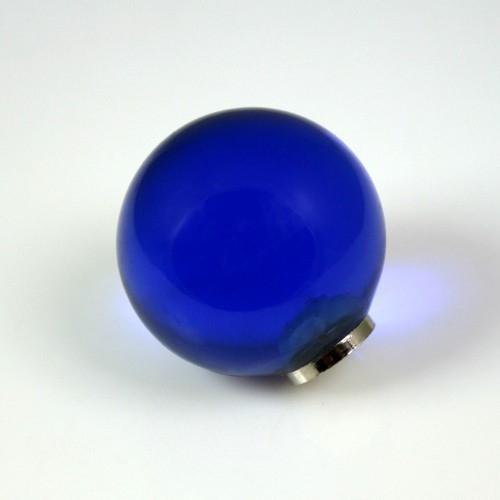 Maniglia pomello sfera blu zaffiro Ø20 vetro di Murano con filettatura M4 Femmina