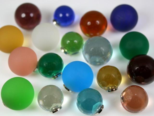 Maniglia pomello sfera cristallo Ø20 vetro di Murano con filettatura M4 Femmina
