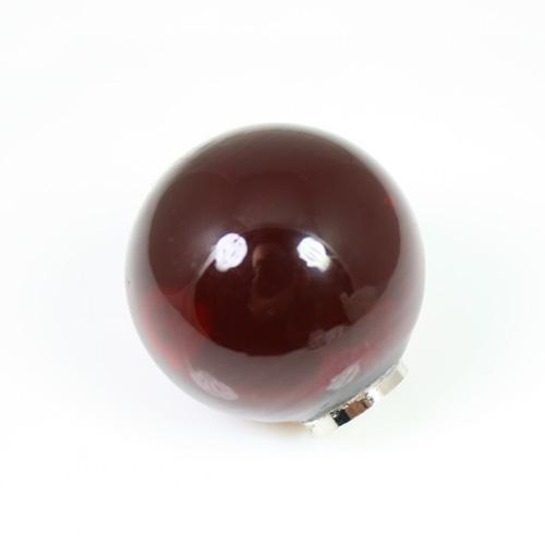 Maniglia pomello sfera rossa Ø20 vetro di Murano con filettatura M4 Femmina