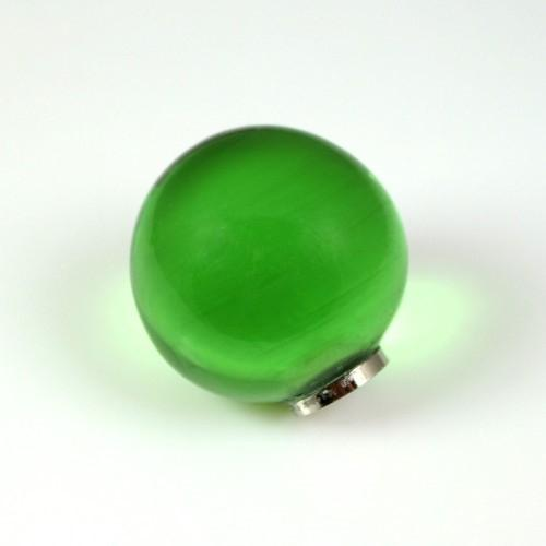Maniglia pomello sfera verde chiaro Ø25 vetro di Murano con filettatura M4 Femmina