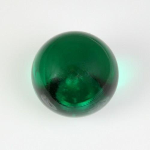 Maniglia pomello sfera verde scuro Ø25 vetro di Murano con filettatura M4 Femmina