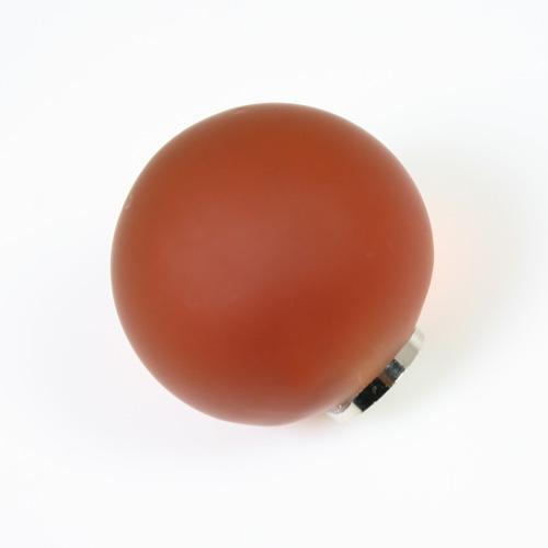 Maniglia pomello sfera satinata ambra Ø20 vetro di Murano con filettatura M4 Femmina