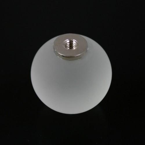 Maniglia pomello sfera color cristallo satinato Ø20 vetro di Murano con filettatura M4 femmina
