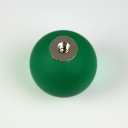 Maniglia pomello sfera satinata verde scuro Ø20 vetro di Murano con filettatura M4 Femmina