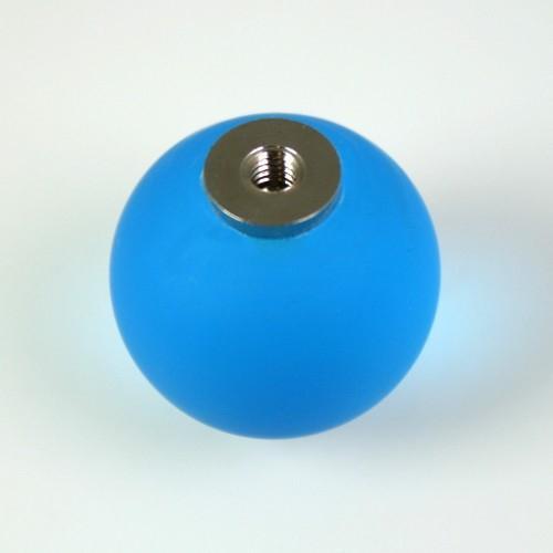 Maniglia pomello sfera satinata turchese Ø20 vetro di Murano con filettatura M4 femmina