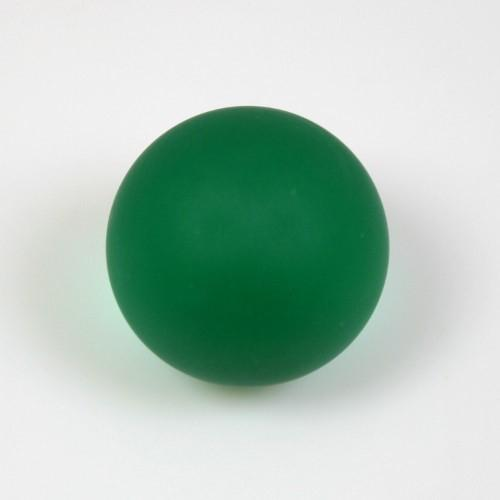Maniglia pomello sfera satinata verde scuro Ø25 vetro di Murano con filettatura M4 Femmina