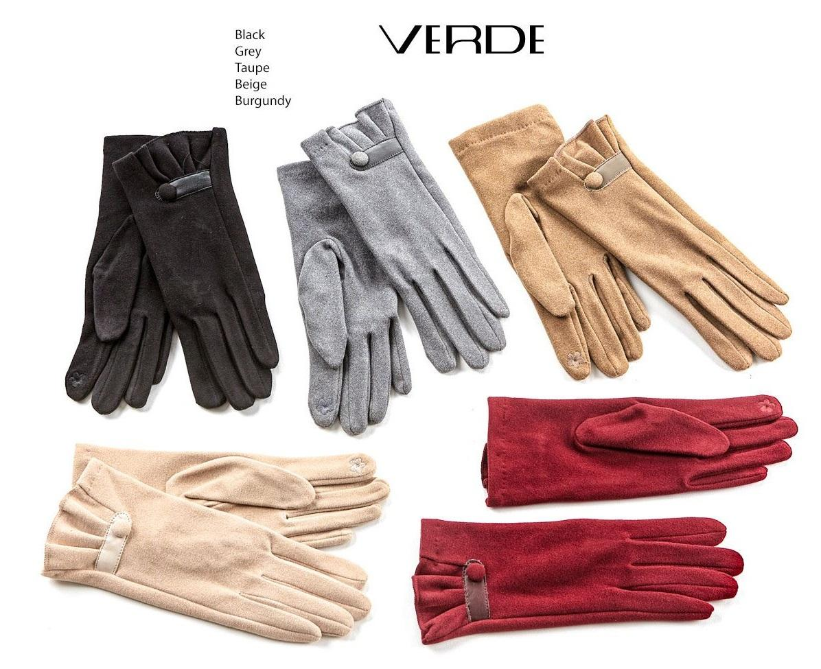 Gants classiques pour femmes avec bouton. Couleur noir, bordeaux, gris, toupet, beige