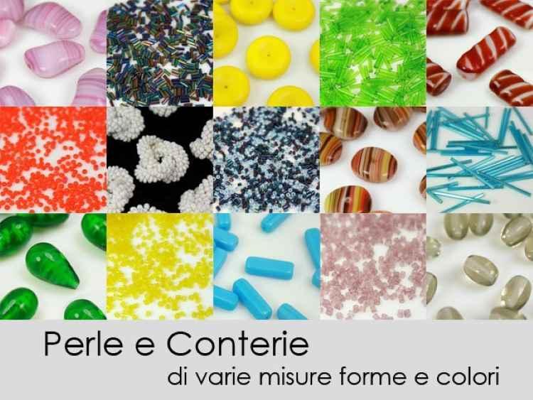 Perline di conteria cannette ambra Ø2 mm vetro di Murano