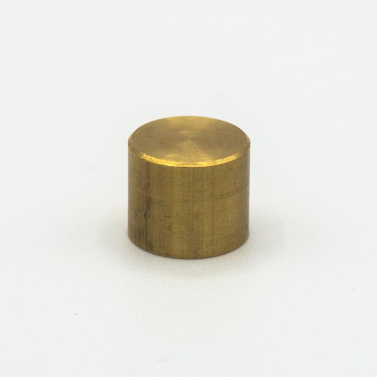 Finale ottone grezzo Ø12 x h10 mm - M10x1 cilindrico