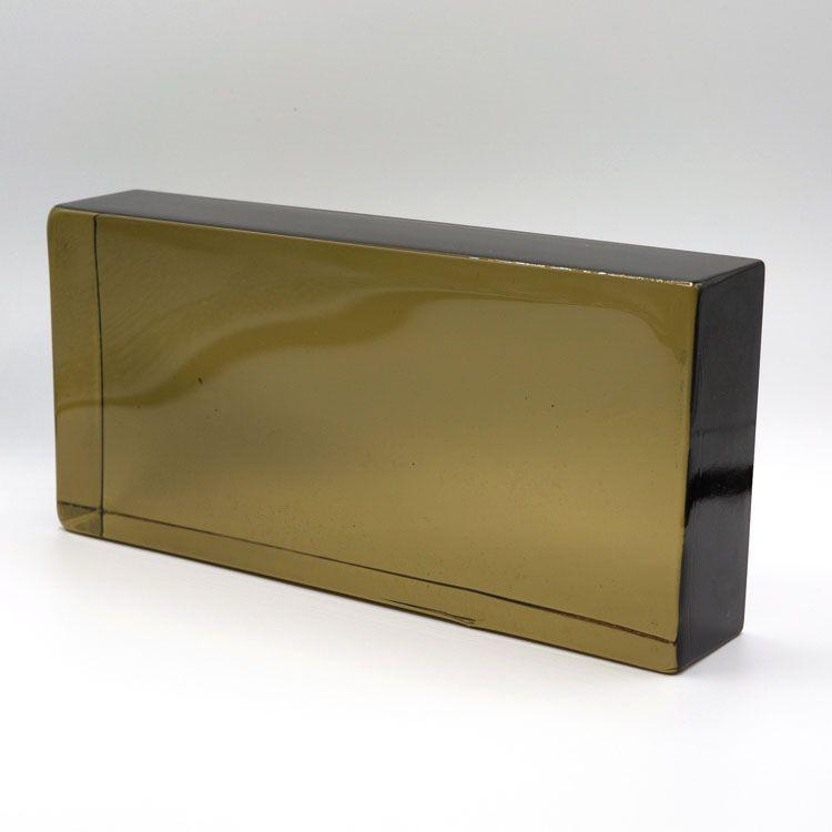 Blocco mattone in vetro di Murano fumè trasparente