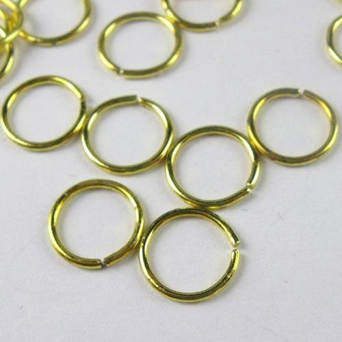 Anello  Ø  mm in ottone brillante per catene di cristalli, perle e vetri.