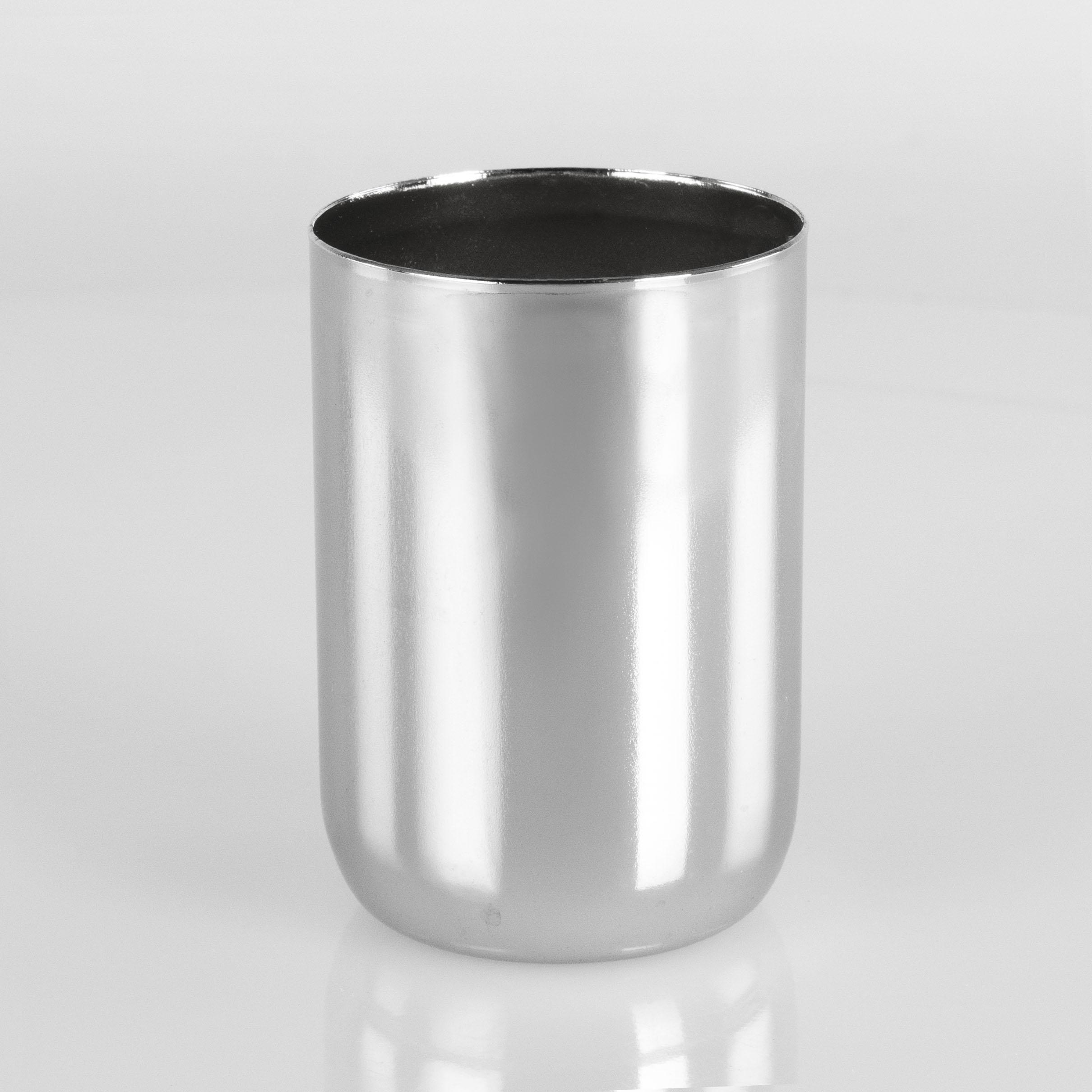 Bicchierino metallico E27 Ø4 x h6 cm  finitura galvanica cromo lucido.