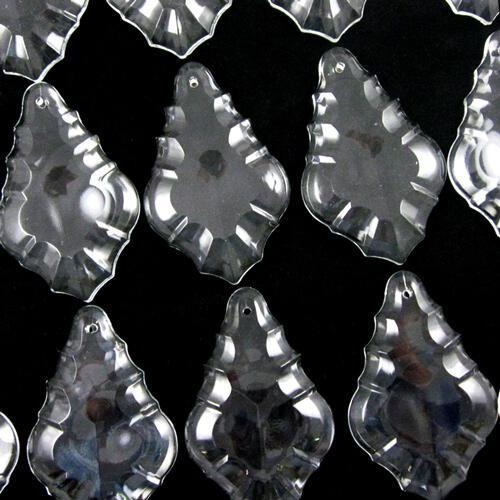 Pendente foglia 50 mm vetro veneziano colore puro cristallino
