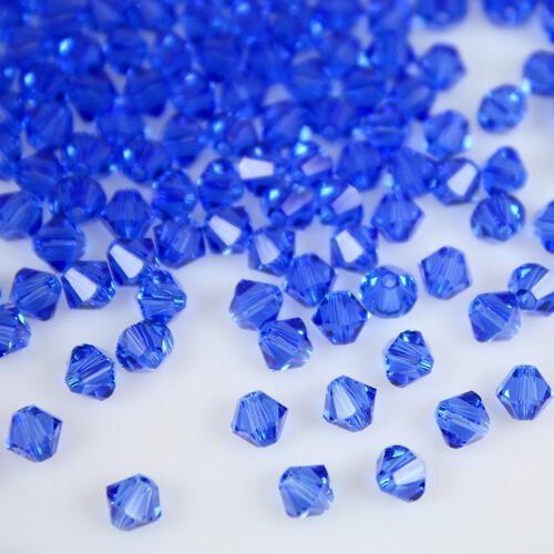 Perla bicono Sapphire 4 mm cristallo Swarovski 5328 bead