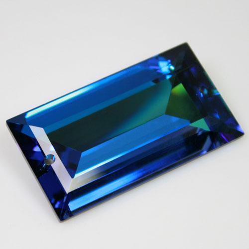 Cristallo Swarovski: losanga pendente blu aurora boreale 40 x 22 mm