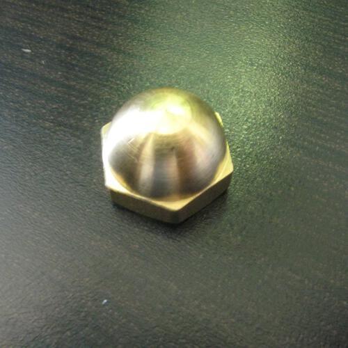 Finale dado cieco M5 in ottone cromato per chiave esagonale