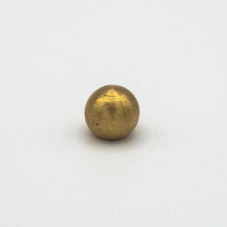 Finale ottone grezzo a sfera Ø8 mm foro interno M4