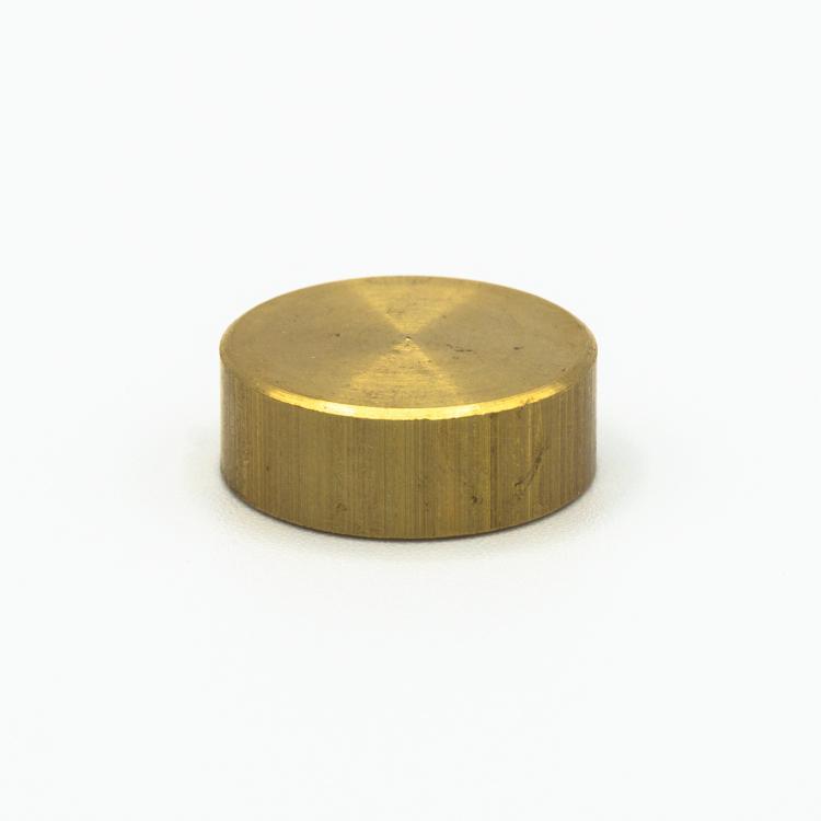 Finale ottone grezzo Ø20 x h7 mm - M10x1 cilindrico