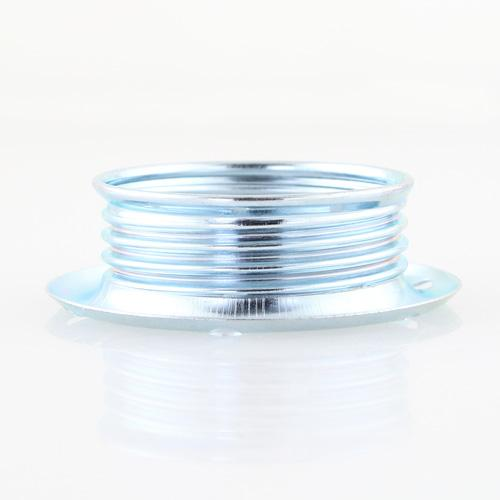 Ghiera E14 metallica zincata per portalampada