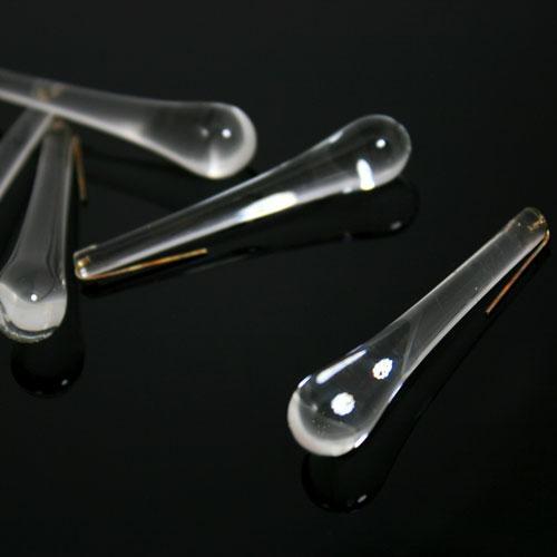 Goccia pendente 55 mm vetro di Murano trasparente